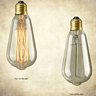 retro vintage e27 konstnärligt glödlampa industriell glödande 40W