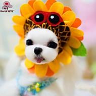 Cães / Gatos Bandanas e Chapéus Amarelo Primavera/Outono Casamento / Fantasias