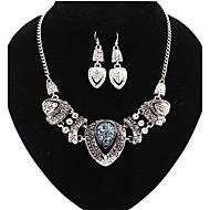 Komplet nakita Ljubav Moda Izjava Nakit Europska luksuzni nakit imitacija Diamond Heart Shape Pink Duga Za Party Special Occasion Rođendan