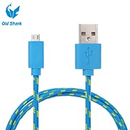 Old Shark™3M 9.8ft Micro USB Charging and Data Sync Cord Cable Fabric Braided Woven for Android Devices
