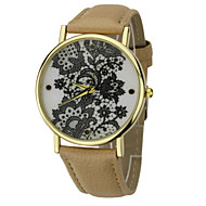 Women's Mystical  Round Dial PU Band Quartz Analog  Black Pattern  Wrist Watch(Assorted Color)