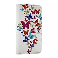 Voor Samsung Galaxy hoesje Kaarthouder / Strass / met standaard / Flip / Magnetisch / Patroon hoesje Volledige behuizing hoesje Vlinder