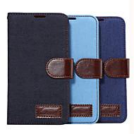 Mert Samsung Galaxy tok Kártyatartó / Pénztárca / Állvánnyal / Flip Case Teljes védelem Case Egyszínű Műbőr SamsungGrand 2 / E7 / E5 /