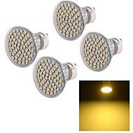 5W GU10 LED 스팟 조명 A50 60 SMD 3528 450 lm 따뜻한 화이트 장식 AC 220-240 V 4개
