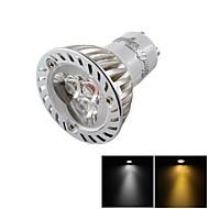 YouOKLight®  Dimmable GU10 3W 200LM 3000/6000K  White/ Warm White 3-LED Spot Light Bulb - Silver + White (AC85~265V)