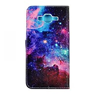 Για Samsung Galaxy Θήκη Θήκη καρτών / Πορτοφόλι / με βάση στήριξης / Ανοιγόμενη tok Πλήρης κάλυψη tok Τοπίο Συνθετικό δέρμα SamsungJ7 /