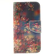 Para Samsung Galaxy Capinhas Porta-Cartão / Carteira / Com Suporte / Flip Capinha Corpo Inteiro Capinha Flor Couro PU Samsung S6