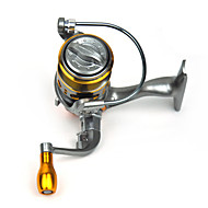 FDDL ® Mini Metal Fishing Spinning Reel 12+1 Ball Bearing Gear Rate 5.2:1 Interchangeable Handle
