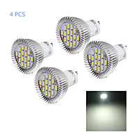 YouOKLight® 4PCS GU10 8W CRI=80 750LM  Cool White  15-SMD5630 LED Spot Lights(AC 220V)