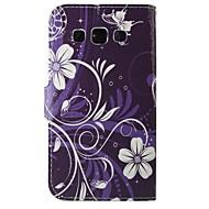 lila virágok pu bőr teljes test esetében Samsung Galaxy Grand / grand neo i9060 / fő elsődleges / Grand elsődleges / fő, plusz