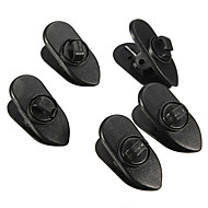 Cable Wire Lapel Clip Organizer + Rotate Mount for Headphone / Earphone(5 PCS)