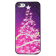 Christmas Style Purple Star Tree Pattern PC Hard Back Cover for iPhone 5/5S