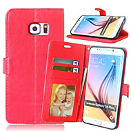 High quality PU leather wallet mobile phone holster Case For Galaxy S6 Edge Plus/S6 Active/S6 Edge/S6/S5(Assorted Color)