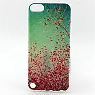 körsbär blommar målning mönster tpu mjuk väska för ipod touch 5