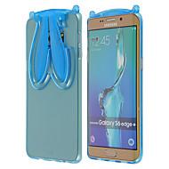 caz logrotate®transparent TPU iepure cu curea și să stea pentru Samsung Galaxy S6 margine margine + / S6 / S6 (Color asortate)