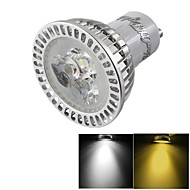 YouOKLight®  Dimmable GU10 3W 300LM 3000/6000K Warm White/ Cold White 3-LED Spot Light Bulb - Silver + White (AC85~265V)