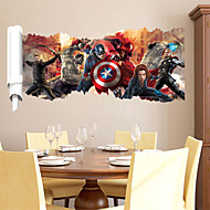 Cool 3D The Avengers Heroes Captain America PVC Wall Sticker Wall Decals