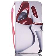 rode lippen pu lederen portemonnee draagriem telefoon geval voor Samsung Galaxy S3 / s3mi / S4 / s4mini / S5 / s5mini / s6 / s6 edge / s6