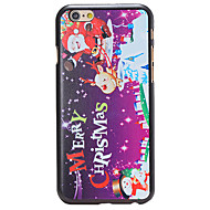 Christmas Style Santa Phrase Pattern PC Hard Back Cover for iPhone 6 Plus