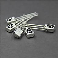 universele infrarood ontvanger met metalen omhulsel - zilver (5 stuks)