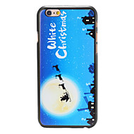 Christmas Style Santa at Night Pattern PC Hard Back Cover for iPhone 6