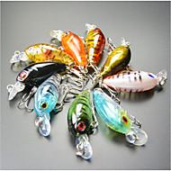 """9 pcs Señuelos duros / Cebos Manivela Multicolor 4 g/1/8 Onza,45 mm/1-3/4"""" pulgada,Plástico duroPesca de Mar / Pesca en General / Pesca"""