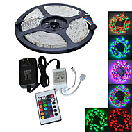 YouOkLight® 5M 300X3528 SMD RGB LED Strip Light and 24Key Remote Controller and 2A AU/EU Power Supply (AC110-240V)
