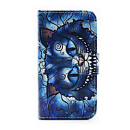 Mert Samsung Galaxy tok Kártyatartó / Pénztárca / Állvánnyal / Flip Case Teljes védelem Case Cica Műbőr Samsung J5 / J1