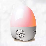 luces de colores en forma de huevo, radios, pequeña luz de la noche función de la tarjeta sd juego sonido