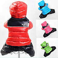Dog Coats - XS / S / M / L / XL / XXL - Winter - Red / Green / Blue / Pink - Keep Warm - Mixed Material / Cotton