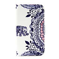 For Samsung Galaxy etui Kortholder Pung Med stativ Flip Etui Heldækkende Etui Elefant Kunstlæder for Samsung J5 (2016) J1 (2016)