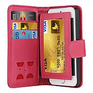 Pour Coque iPhone 5 Portefeuille Porte Carte Clapet Coque Coque Intégrale Coque Couleur Pleine Dur Cuir PU pour iPhone SE/5s/5
