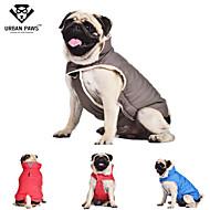 개 코트 / 조끼 레드 / 블루 / 그레이 강아지 의류 겨울 / 모든계절/가을 솔리드 따뜻함 유지 / 방풍