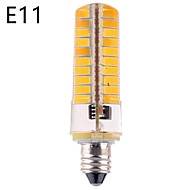 Dimmable E14 / E17 / G8 / E12 / E11 / BA15D 12W 80 SMD 5730 1200 LM Warm White / Cool White LED Corn Bulbs AC 110-130 V