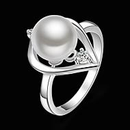 Damen Statementringe Modisch Modeschmuck Perle Kubikzirkonia versilbert Diamantimitate Schmuck Für Party