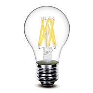 1 pcs 深美乐 E26/E27 6 W 6 COB 600 LM Warm White G60 Decorative LED Filament Bulbs AC 220-240 V
