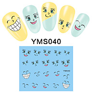 4PCS Cartoon Watermark Nail Art Stickers YMS37-40