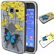 Na Samsung Galaxy Etui Odporne na wstrząsy / Półprzezroczyste / Wzór Kılıf Etui na tył Kılıf Motyl TPU SamsungGrand Prime / Grand Neo /