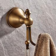 """Robe Hook Antique Brass Wall Mounted 100 x 70mm (3.93 x 2.75"""") Brass Antique"""