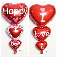 10 pezzi di cuore decorazione palloncini a forma di matrimonio festa di compleanno (colore casuale)