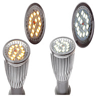 E14 6w led spotlampe belysning 15x5730smd varm hvid (3000-3500k) sølv (assorterede farver)