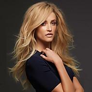 nytt mode högkvalitativa lin guld långa naturliga volym syntetiska peruker heta försäljning.