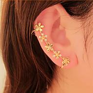 Ear Cuffs Kryształ górski Stop Flower Shape Stokrotka Biżuteria Na Impreza Codzienny 1szt
