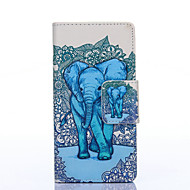 Elephant Painted PU Phone Case for Galaxy J5/J3/Galaxy On5
