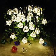 6,5 mln produktów 30led nowy kształt diamentu słoneczne święta wystrój domu światła smyczkowe (30led-ciepły biały)