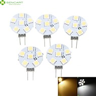 5 x G4 / MR11/ GU4 / GZ4  1.5W 6x5050SMD  Warm White/ White 120LM Led Light Bulbs (12V AC/DC)