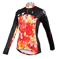 PALADIN Vélo/Cyclisme Maillot / Hauts/Tops Femme Manches longues Respirable / Séchage rapide 100 % Polyester Feuille BleuXS / S / M / L /