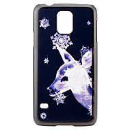 Christmas and Deer Pattern PC Hard Back Cover Case for Samsung Galaxy S5
