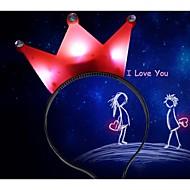 led 조명 왕관 모양의 크리스마스 파티 장식 헤어 머리띠 (색상 랜덤)