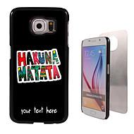 personalizirana slučaj - HAKUNA Matata dizajn metala slučaj za Samsung Galaxy S6 / S6 EDGE / napomenu 5 / A8 i drugima